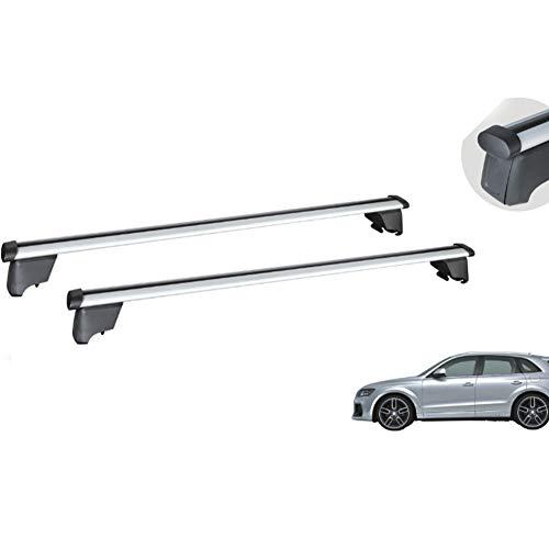 ZBHWYD Tabla de Techo, portaequipajes, Adecuado para 2012-2015 Audi Q5 Alquiler de aleación de Aluminio Especial, Kit de modificación, Plata