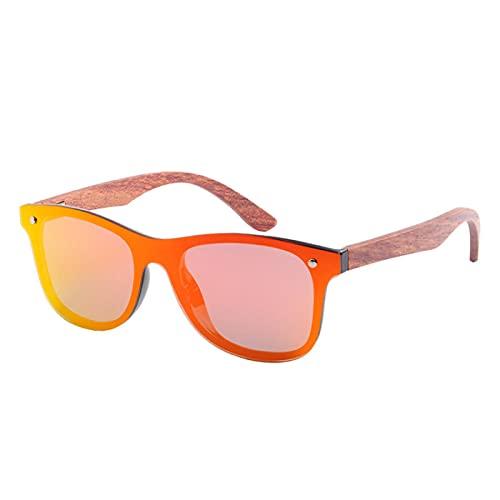 Gafas De Sol Polarizadas De Madera De Nogal Natural Hombres/Mujeres Protección Uv400 Gafas De Sol Cuadradas Madera Original C4Red