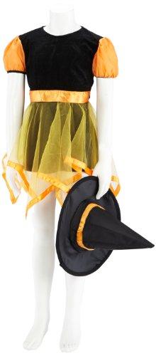 Toyland - Costume Strega Arancione Bambina 3 A 4 Anni