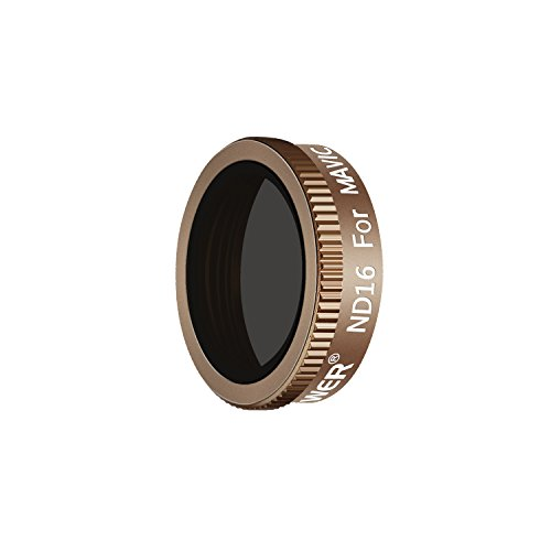 Neewer Pro ND 16 Filter for DJI Mavic Air Drone Quadcopter, Made of Multi Coated Optical Glass and Waterproof Aluminum Alloy Frame (Gold)