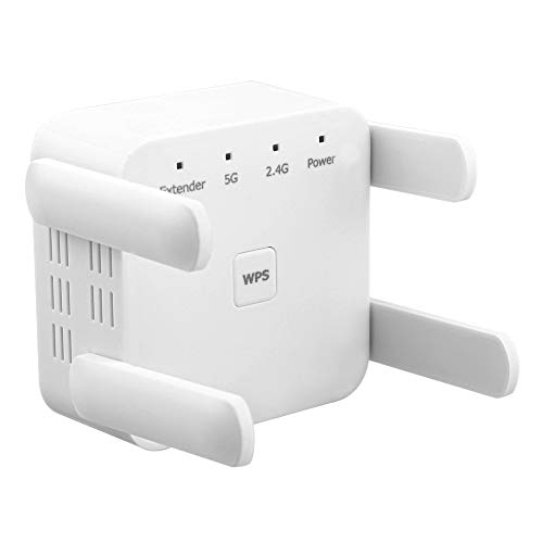 CareMont Repetidor WiFi InaláMbrico de 5Ghz 1200Mbps Router WiFi Booster 2,4G WiFi Extensor de Largo Alcance 5G Amplificador de SeeAl Wi-Fi Enchufe de la UE