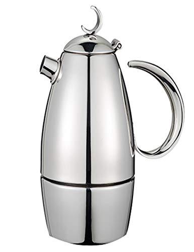 CafetièRe Italienne Premium Moka Pot - 304 Premium - avec PoignéE Anti-BrûLure et Filtre éPaissi - 4/6 Tasse - pour FêTe de Famille