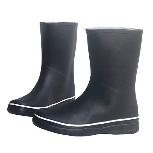 LINGZE Botas de Lluvia de Goma para Hombres, multiestación, Zapatos de jardín al Aire Libre Impermeables, Suela Antideslizante