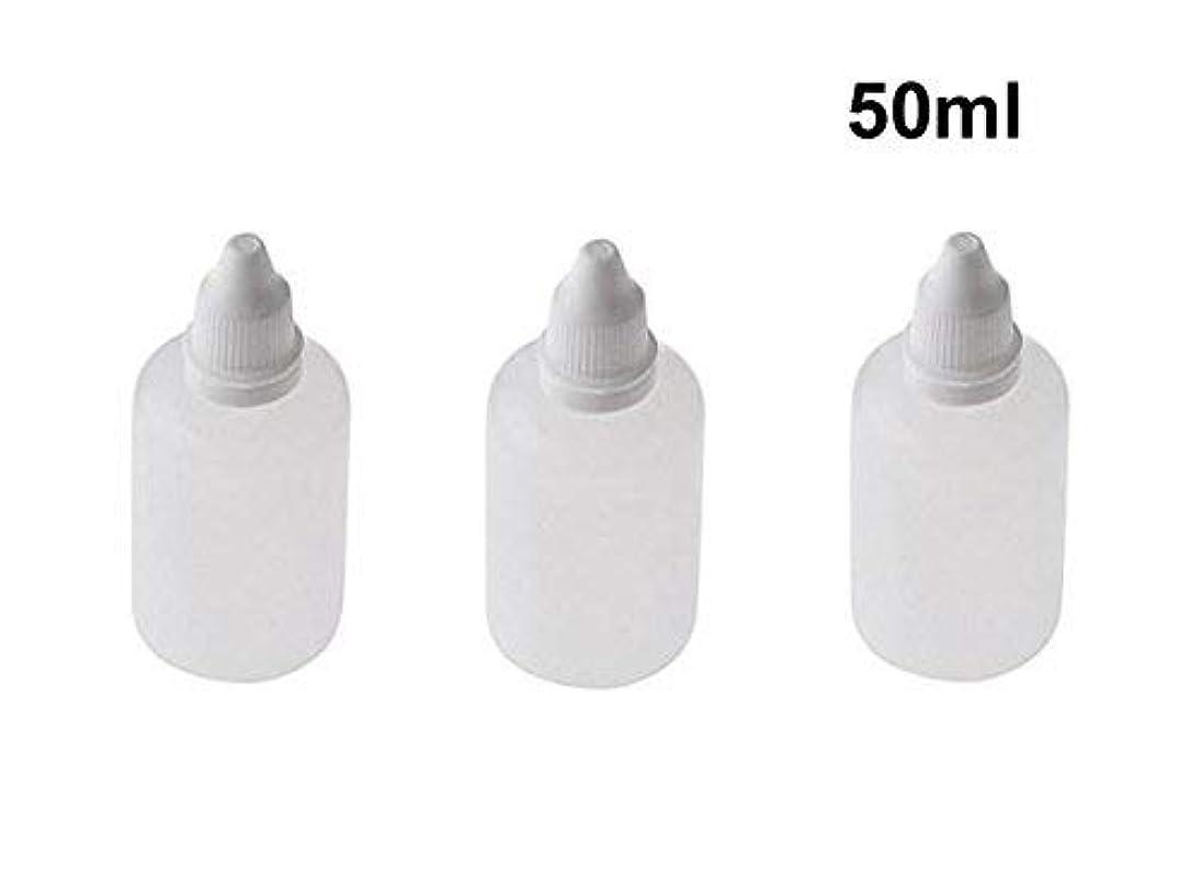 心臓厚くするラッドヤードキップリング10 Pieces Empty Refillable Plastic Squeezable Dropper Bottles Portable Eye Liquid Vial with Screw Caps and Plugs Cosmetic Packaging Containers Essential Oil Container size 50ml [並行輸入品]
