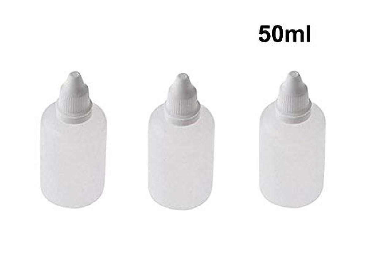 遠足隙間心配する10 Pieces Empty Refillable Plastic Squeezable Dropper Bottles Portable Eye Liquid Vial with Screw Caps and Plugs Cosmetic Packaging Containers Essential Oil Container size 50ml [並行輸入品]