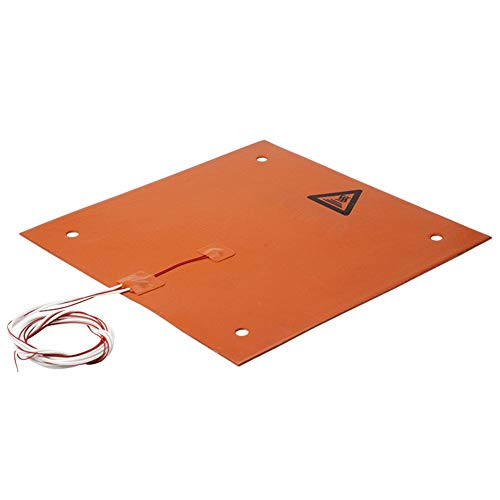 Alician Silicone Heater Heating Pad for CR-10 3D Printer Bed Holes 31x31cm 3D Printer Parts Accessory 23.5 * 23.5cm 24v 200w