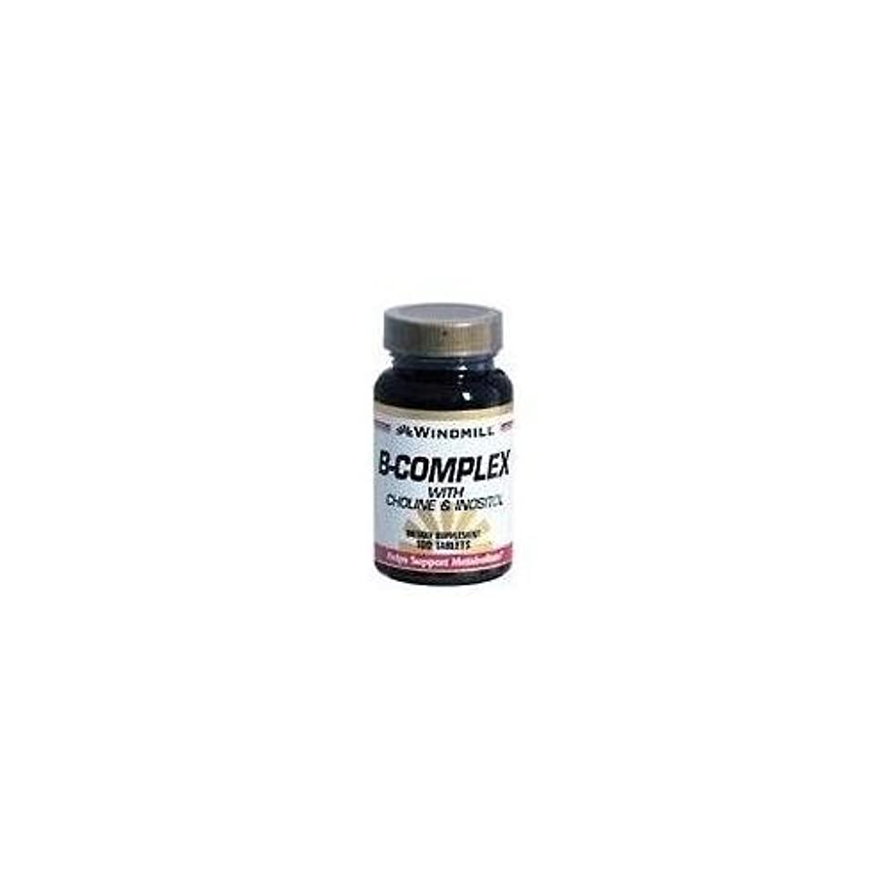 Windmill B-Complex Tablets With Choline and Inositol 100 TB - Buy Packs and SAVE (Pack of 3)
