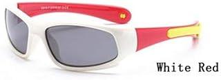 DEALBUHK - DEALBUHK Super Light niños TR90 Gafas de Sol polarizadas Seguridad de los niños Marca de los vidrios de Goma Flexible de Oculos Infantil diseño de Moda (Lenses Color : 6)