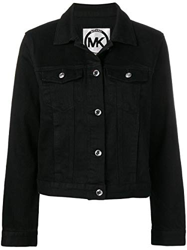 Michael Kors Luxury Fashion Damen MH81ELS7GM001 Schwarz Elastan Jacke | Jahreszeit Outlet