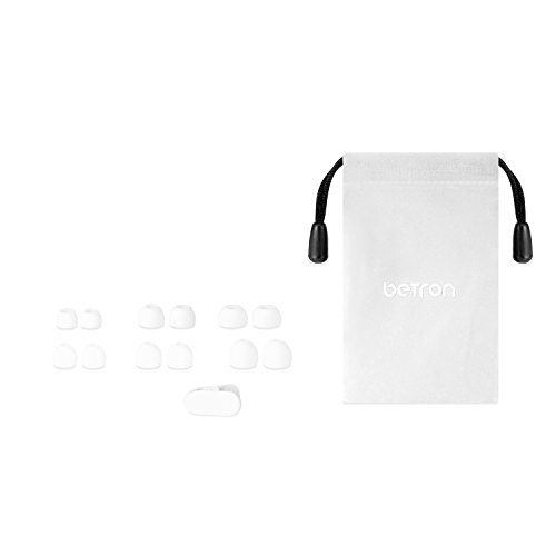 Betron B750s Earphones Headphones, High Definition, in-ear, Tangle Free, Noise Isolating , HEAVY DEEP BASS for iPhone, iPod, iPad, MP3 Players, Samsung Galaxy, Nokia, HTC, Nexus, BlackBerry etc (White with Volume Control and Mic)