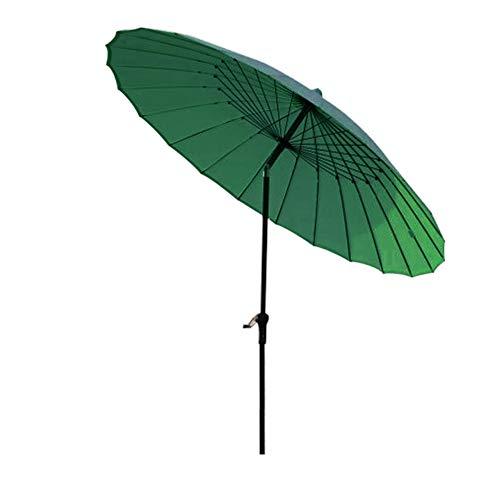 JWW Parasol De Jardin Protection UV Parasol Déporté De Plage Patio Extérieur Angle Réglable Parapluie Marché Parasol Auvent 250 Cm