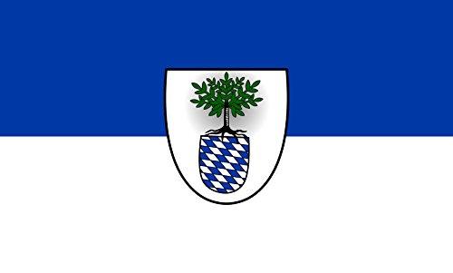 Unbekannt magFlags Tisch-Fahne/Tisch-Flagge: Nußloch 15x25cm inkl. Tisch-Ständer