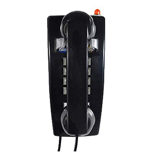 WYZQ Teléfono Teléfono Fijo Antiguo Teléfono Antiguo Teléfonos de casa Mesa de Escritorio Oficina en casa Cable en Espiral Auricular con marcación por botón, Toma de teléfono estándar Teléfonos