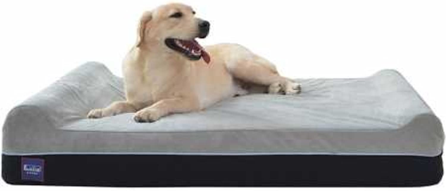 Laifug Orthopedic Memory Foam Extra Large Dog Bed Pillow and Durable Water Proof Liner&Removable Washable Cover