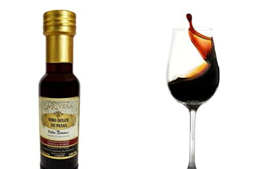 Lote de 8 Botellas Cristal Mini de Vino Dulce Pedro Ximenez'La Rivera'. Regalos Originales. Complementos. Detalles para Bodas, Comuniones, Bautizos y Cumpleaños. DC