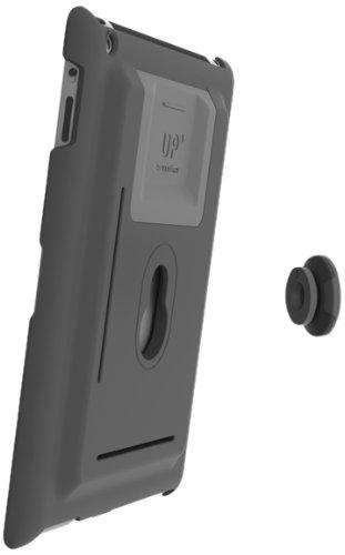 XFLAT UP100B - 3in1 iPad Wandhalterung & Standfuß System für iPad mini, Farbe Schutzhülle: schwarz, Standfuß in 4 Positionen nutzbar für 25° oder 60° vertikal & 25° oder 60° horizontal