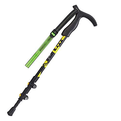 Bâtons de randonnée Bâton Trekking, antidérapante ultra-léger portable bâton télescopique, matériel d'escalade multifonction Béquille, adapté for la randonnée, le camping, escalade, randonnée, marche,