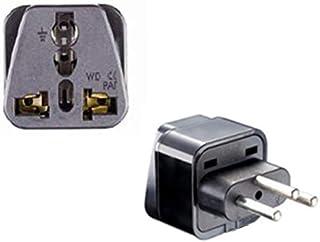 GOUWEI 10pcs/lot Swiss Power Converter 3 Round Conversion Plug 3 Pin to 3 Round Pin Swiss Plug Socket US AU EU Europe to S...