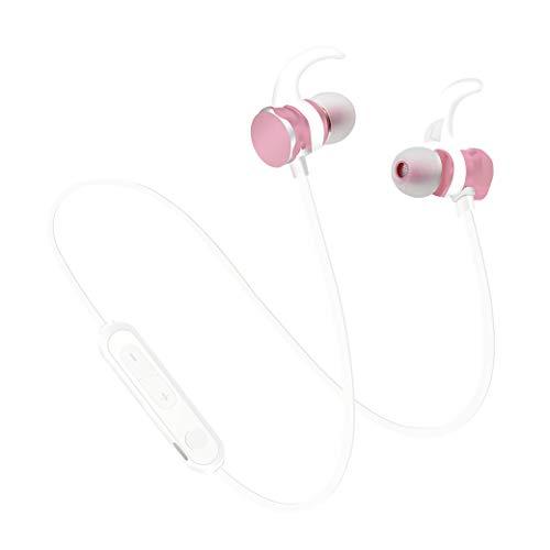 ワイヤレスイヤホン 両耳 Bluetooth5.0 通話 音楽 スポーツ ランニング マイク iPhone Android スマートフォン カナル式 (ピンク) PR-X3S-PK