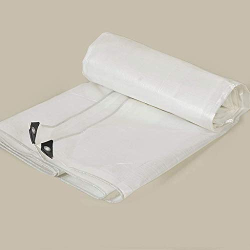 Tarpaulin Bâche de Ff Épaissie Bâche de Camion de Bâche de Pe Imperméable, Bâches de Tente Tissu Voiture Bâche En Plastique Tissu Anti-Âge,Blanc