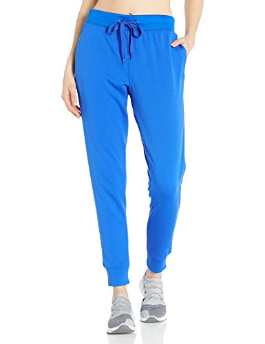 Hanes Women's Sport Performance Fleece Jogger Pants with Pockets, Awesome Blue Solid/Awesome Blue Heather, S