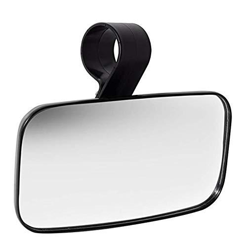 RETYLY espejo retrovisor Utv accesorios-espejos mejor para montaje de 1.5 – 2 ángulo amplio centro – carcasa de ABS de alto impacto y soporte de barra de rollo universal con vidrio templado a prueba de roturas