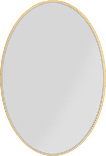 Kare Design Spiegel Jetset Oval Gold 94x64cm, ovaler Wandspiegel mit goldenem Rahmen, verschiedene Ausführungen erhältlich (H/B/T) 93x63x3,5cm