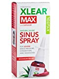 XLEAR MAX Nasal Spray, 1.5oz, 4 Pack, New! Natural Formula with Xylitol, Capsicum, and Aloe for Maximum Relief from Severe Sinus Pressure, Congestion, Headaches, and Dryness