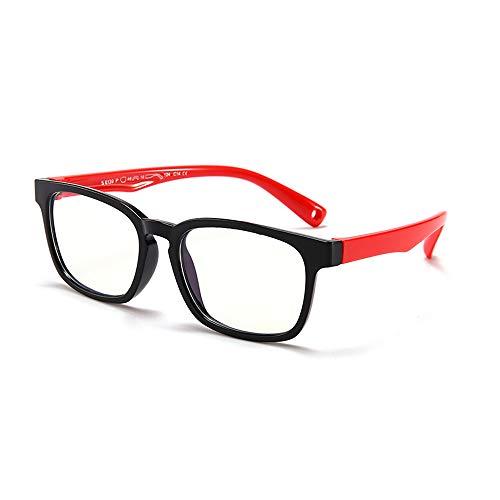 Suertree Anti Blaulicht Brille Kinder Blaulichtfilter Gläser für Computer,TV,Online-Unterricht Brillengestell black frame