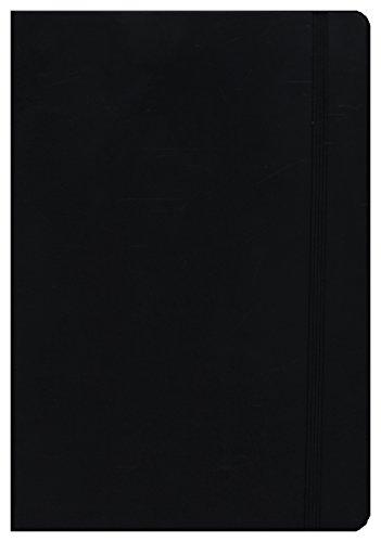 Leuchtturm1917, notitieboek, medium (A5), echt lederen omslag, 249 pagina's geruit Kariert zwart