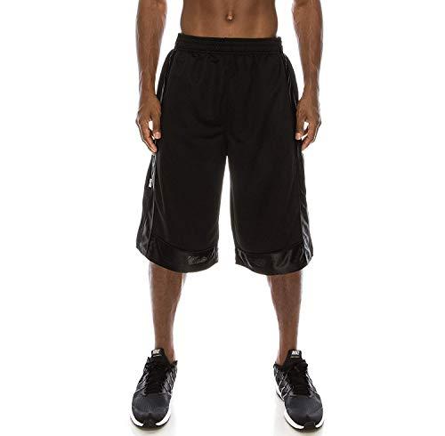 PRO 5 Men's Heavy Mesh Basketball Shorts (X-Large, Black)