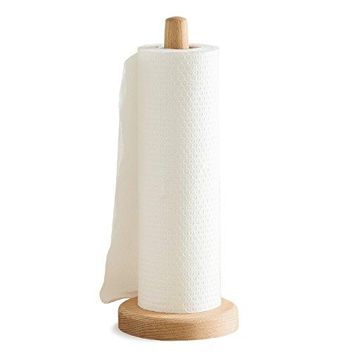 JYCRA Küchenrollenhalter aus Holz, modischer Papierhandtuchhalter mit rutschfester Unterseite für Küche, Wohnzimmer, Schlafzimmer, Badezimmer