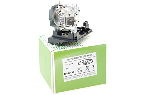 Alda PQ-Premium, Lámpara de proyector Compatible con NP19LP, 60003129 para NEC NP-U250X, NP-U250X+, NP-U250XG, NP-U260W, NP-U260W+, NP-U260WG, U250X, U250XG Proyectores, lámpara con Carcasa