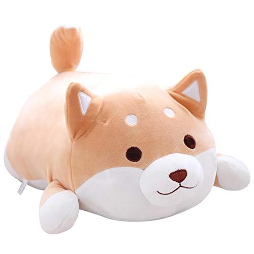Hund Plüsch Kissen, niedliche Corgi Akita Kuscheltiere Puppe Spielzeug Geschenke, Weihnachten, Sofa Stuhl, braunes rundes Auge