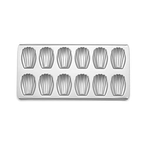 MEYYY Bandeja para magdalenas antiadherente, para magdalenas, 12 tazas de 39 x 21 x 2 cm, molde de acero al carbono, bandeja para hornear para pudín de Yorkshire, pastel de hadas y tartas de taza