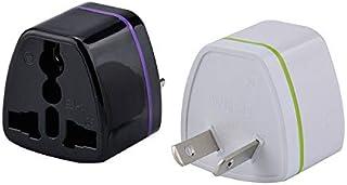 Power Adapter Travel Adaptor 2 pin AU Converter US/UK/EU Universal to AU Plug Charger for Australia(Black)