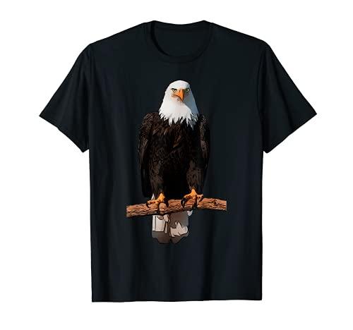 Adler-Aufdruck Tier Adlermotiv Weisskopfseeadler Tiermotiv T-Shirt