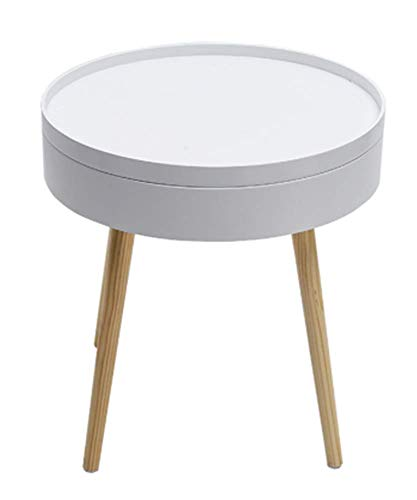 lkj 25.Nordic Creative Solid Wood Coffee Table Simple Side Sofa Side Table Corner Several Bed Round Table