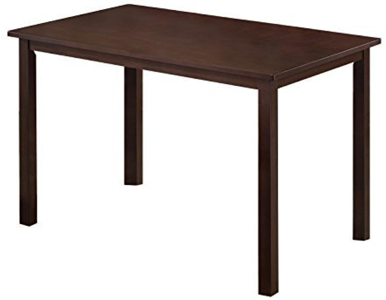 Kings Brand Furniture Wood Dining Room Kitchen Table, Walnut