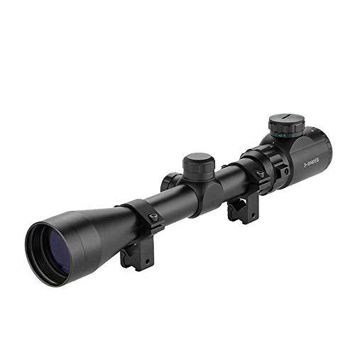 LARS360 Zielfernrohr Gewehrzielfernrohre Rot Und Grün Taktische Luftgewehr Armbrust Rifle Scope Luftscharfschützen Airsoft Mit 11mm Montagen für Jagd und Sport (3-9x40EG, 11mm)
