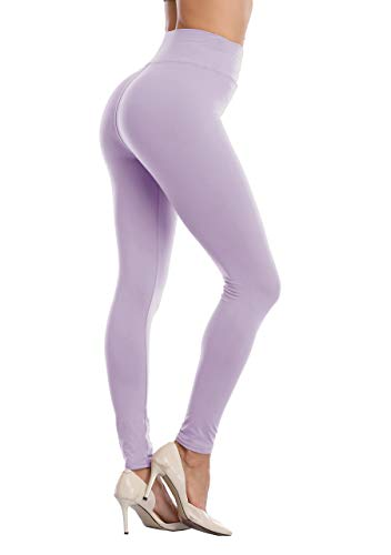 LIGHTBACK High Waisted Legging Tummy Control Ultra Soft Compression Tights Slim Yoga Pant Lavender