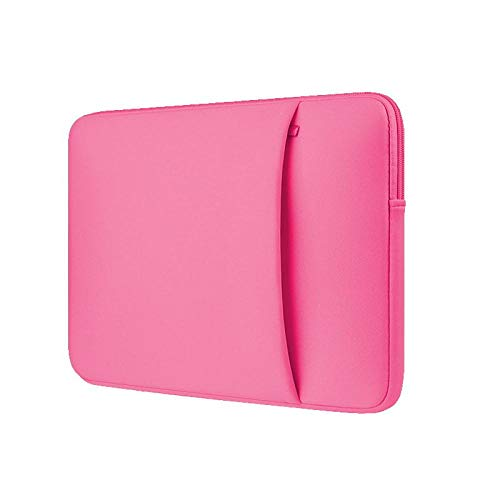 Laptop Sleeve 11 12 13 14 15 15.6 inch ntebook case Soft Bag for acbook Air Pro Retina Tablet Pocket-Rose-Red_Set_for Mi 13