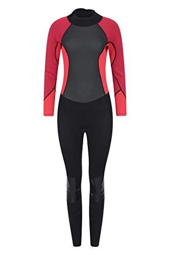 Mountain Warehouse Langer Damen-Neoprenanzug - Körper: 2.5mm, Konturfit, verstellb. Ausschnitt, hält Körperwärme, einteilig Rot 38-40