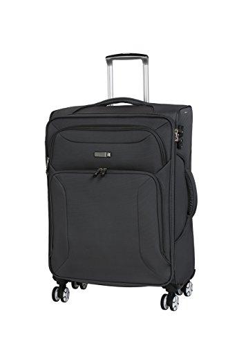 it luggage Fascia 8 Wheel Lightweight Semi Expander Medium with TSA Lock Suitcase, 68 cm, 90 L, Grey