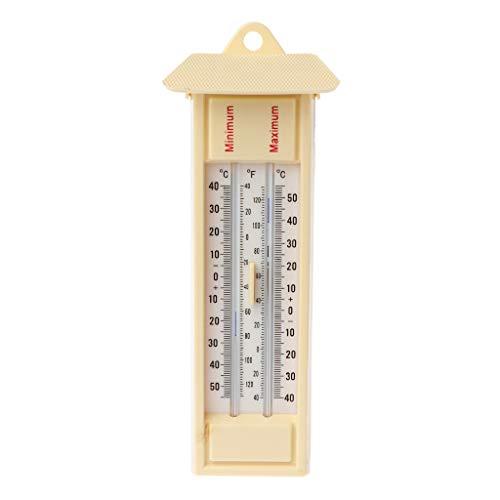 Max Min Thermometer - Indoor Outdoor Garten Gewächshaus Wandtemperatur Monitor -40 bis 50 ℃ / 120 ℉