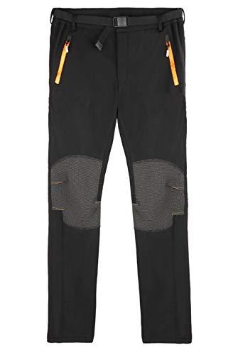 DEKINMAX Pantalones de Trekking Hombre Pantalones Térmicos Impermeable para Invierno Esquí Senderismo Montaña (L)