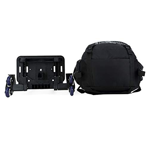 Read About Heavy Duty Rolling Backpack with 6 Wheels, High Capacity Portable School Backpack Laptop ...