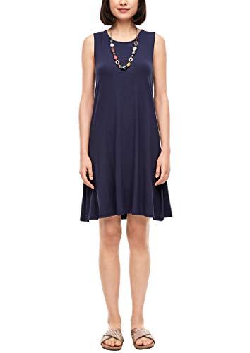 s.Oliver Damen Jerseykleid mit Rückenausschnitt dark blue 42
