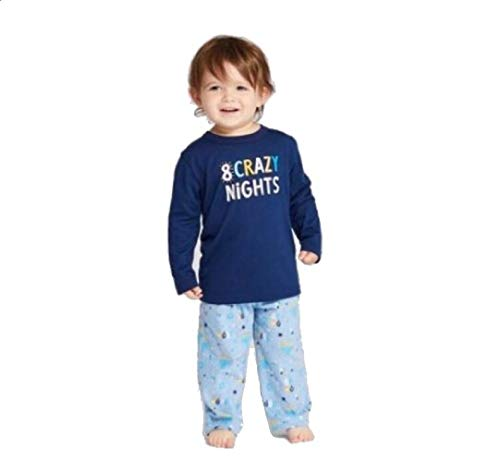Wondershop Toddler Hanukkah Pajama Set - Blue (12 Months)