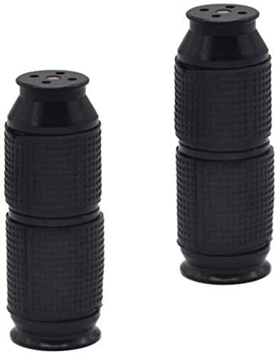 Timess Sahnespender Düsen 2 Stück Sahnebereiter Aluminiumlegierung Klein und tragbar Ledertasche Frostschutzhand Cream Whipper Dispenser (Schwarz)